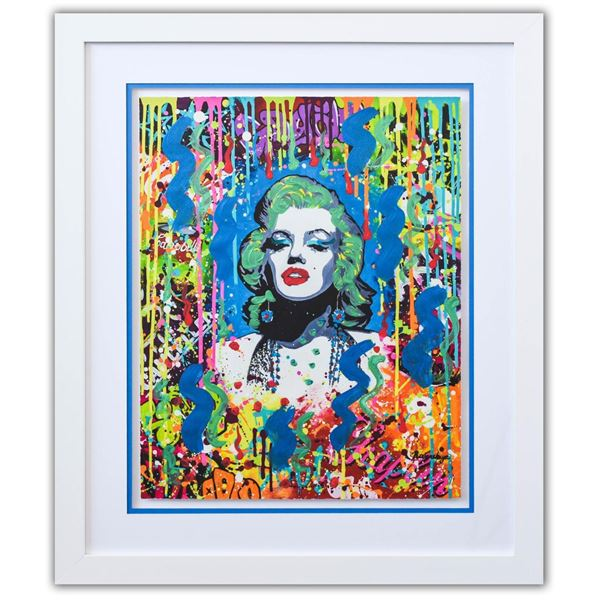 "Nastya Rovenskaya- Original Mixed Media on Paper ""Blonde Bombshell"""