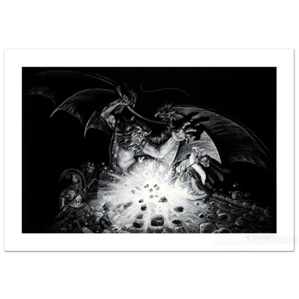 """Gandalf Versus Balrog"" Limited Edition Giclee by Greg Hildebrandt. Numbered and Hand Signed by the"