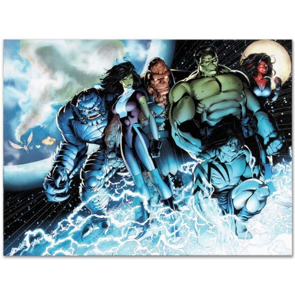 "Marvel Comics ""Incredible Hulks #615"" Numbered Limited Edition Giclee on Canvas by Barry Kitson with"