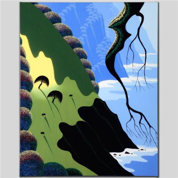 """Coast and Cows"" Limited Edition Giclee on Canvas by Larissa Holt, Numbered and Signed. This piece c"