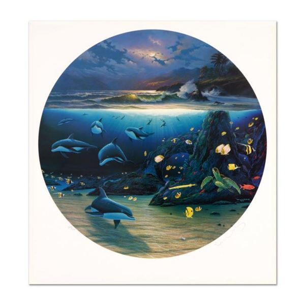 """Wyland, """"Moonlit Waters"""" Limited Edition Lithograph, Numbered and Hand Signed with Certificate of Au"""
