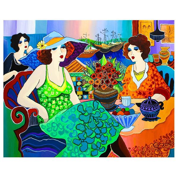"Patricia Govezensky- Original Acrylic on Canvas ""Cafe De Klos"""