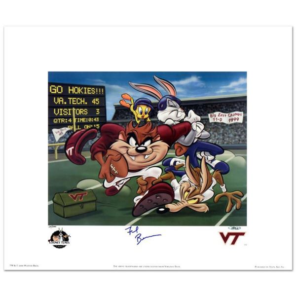 """""""Virginia Tech, Frank Beamer"""" Limited Edition Lithograph from Warner Bros., Numbered and Hand Signed"""