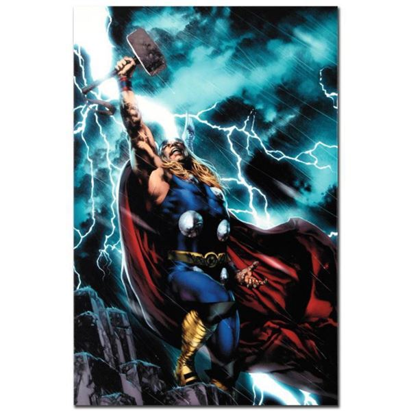 """Marvel Comics """"Thor First Thunder #1"""" Numbered Limited Edition Giclee on Canvas by Jay Anacleto with"""
