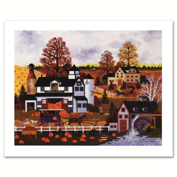 """Jane Wooster Scott, """"Textures of Autumn"""" Hand Signed Limited Edition Lithograph with Letter of Authe"""