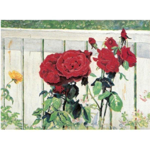"""Perla Fox- Original Serigraph """"Roses"""""""
