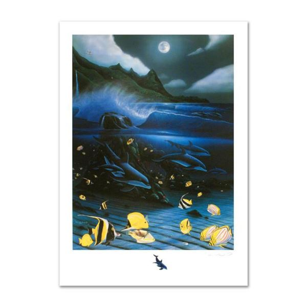 """""""Hanalei Bay"""" Limited Edition Mixed Media by Famed Artist Wyland, Numbered and Hand Signed with Cert"""