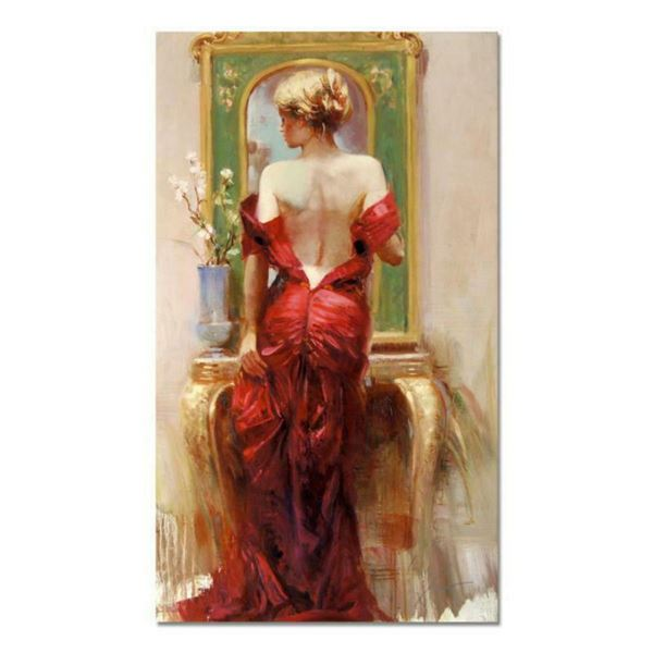 "Pino (1939-2010), ""Elegant Seduction"" Artist Embellished Limited Edition on Canvas (24"" x 40""), PP N"