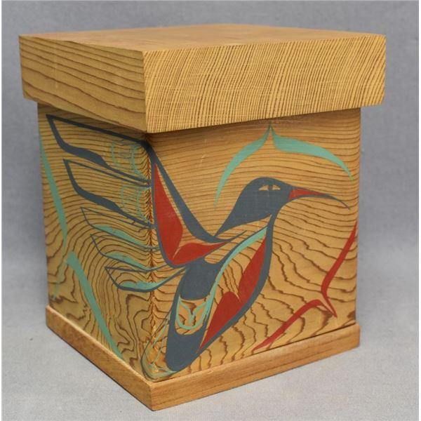 HAIDA INDIAN BENT WOOD BOX (RUTH WILBER)
