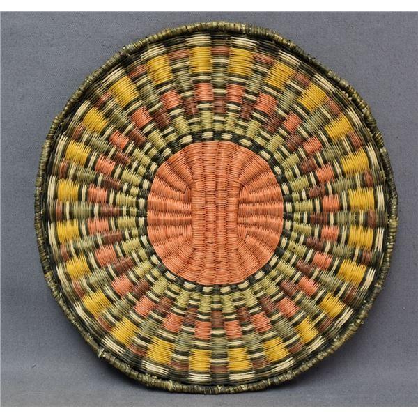 HOPI INDIAN BASKETRY PLAQUE