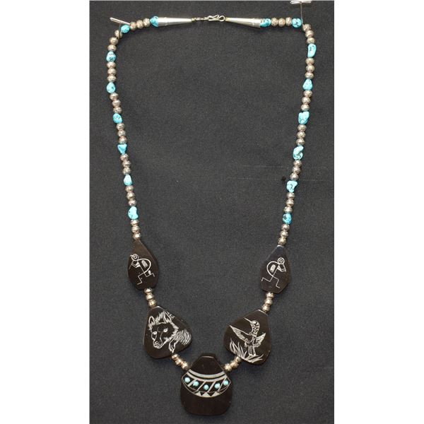 CHEROKEE INDIAN NECKLACE (TED  MILLER)