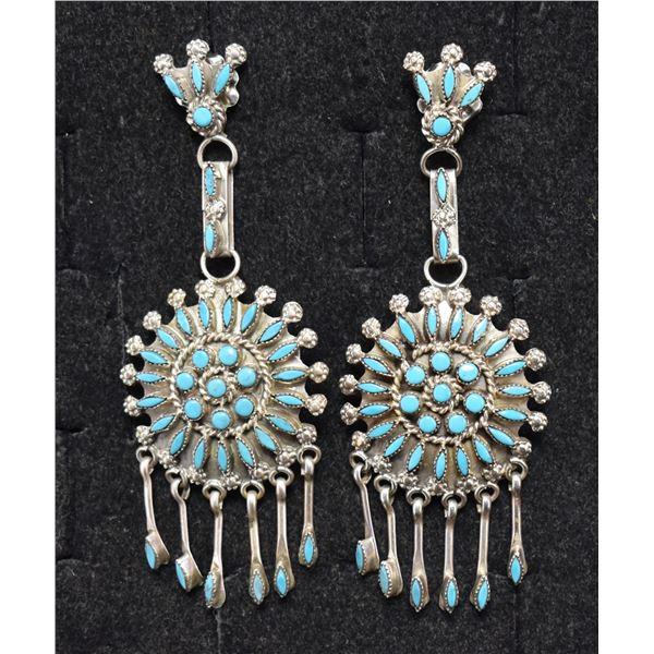 ZUNI INDIAN EARRINGS (D&M CHAVEZ)