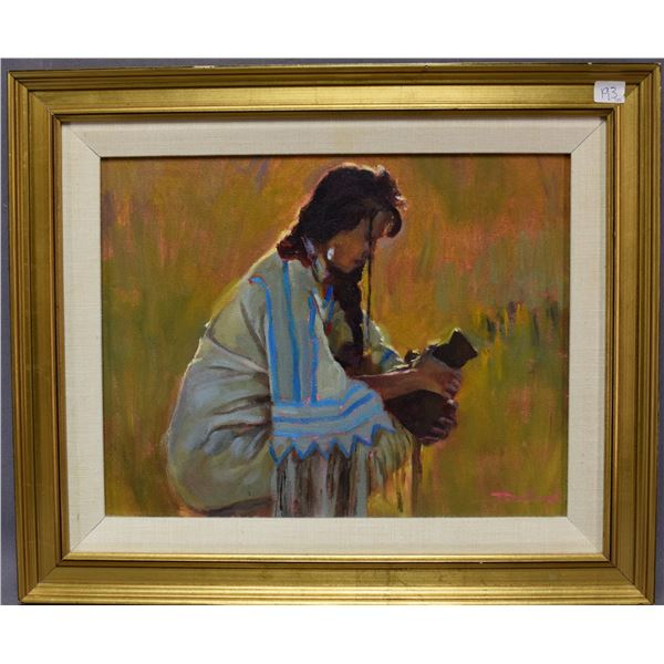 CHEYENNE INDIAN PAINTING (CHRISTOPHER ROWLAND)