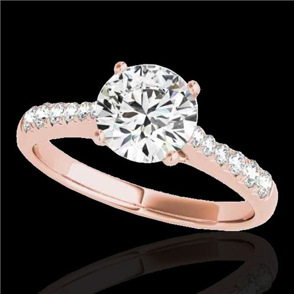 1.25 ctw Certified Diamond Solitaire Ring 10k Rose Gold - REF-190X9A