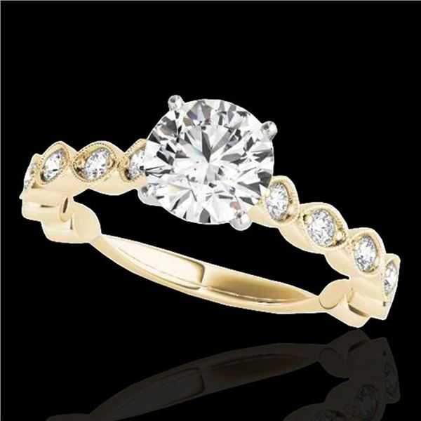 1.5 ctw Certified Diamond Solitaire Ring 10k Yellow Gold - REF-196F4M