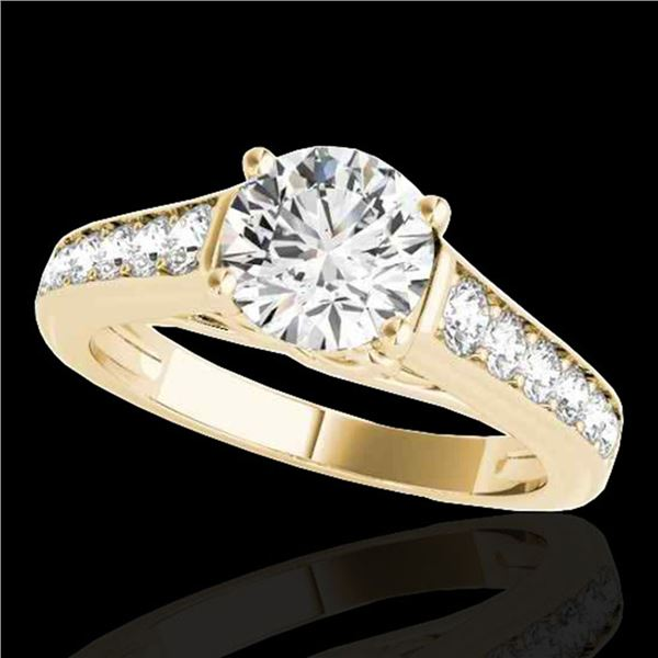 1.5 ctw Certified Diamond Solitaire Ring 10k Yellow Gold - REF-204X5A