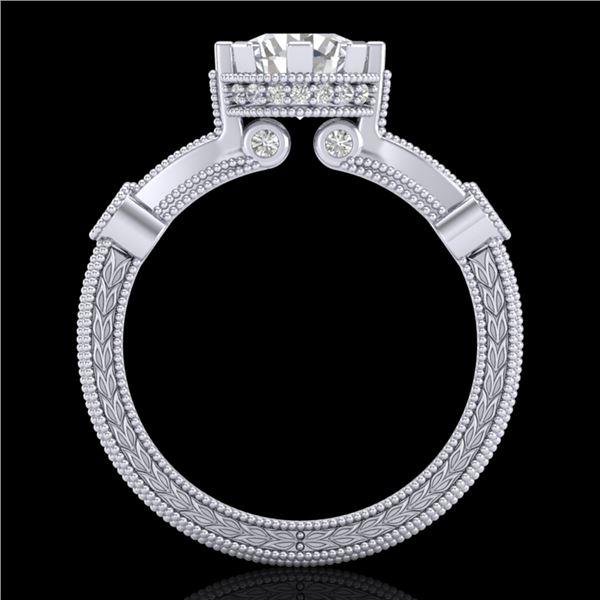 1.71 ctw VS/SI Diamond Art Deco Ring 18k White Gold - REF-442N5F