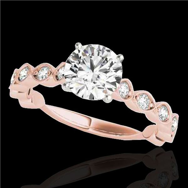 1.5 ctw Certified Diamond Solitaire Ring 10k Rose Gold - REF-196A4N