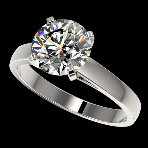 2.50 ctw Certified Quality Diamond Engagment Ring 10k White Gold - REF-616R8K