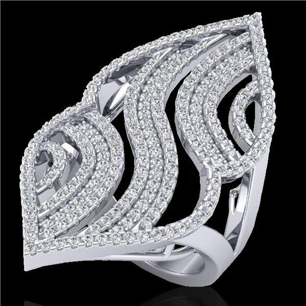 2 ctw Micro Pave VS/SI Diamond Designer Ring 14k White Gold - REF-180F9M