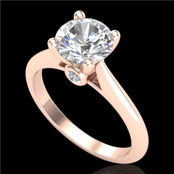 1.6 ctw VS/SI Diamond Art Deco Ring 18k Rose Gold - REF-454W3H
