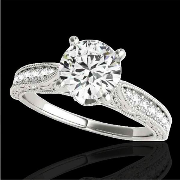 1.5 ctw Certified Diamond Solitaire Antique Ring 10k White Gold - REF-259Y3X