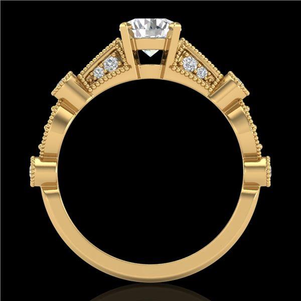 1.03 ctw VS/SI Diamond Solitaire Art Deco Ring 18k Yellow Gold - REF-203F6M