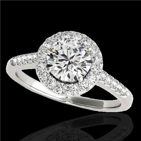 2 ctw Certified Diamond Solitaire Halo Ring 10k White Gold - REF-354F5M