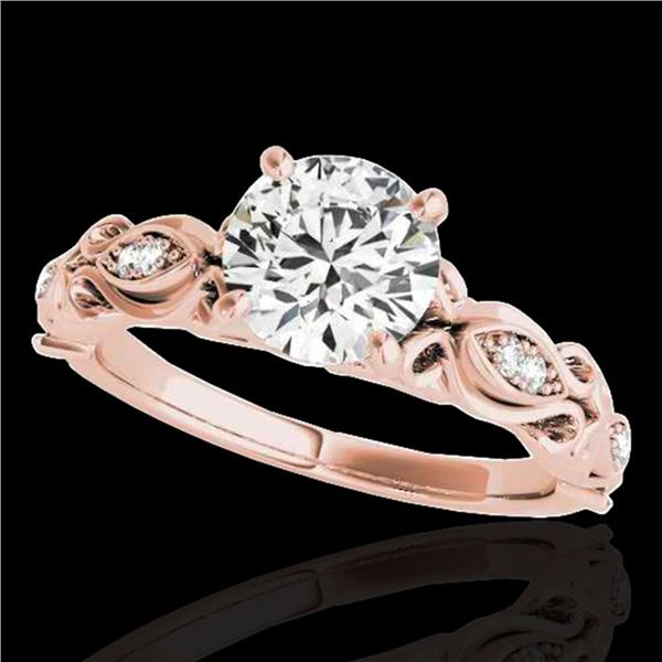 1.1 ctw Certified Diamond Solitaire Antique Ring 10k Rose Gold - REF-184M3G