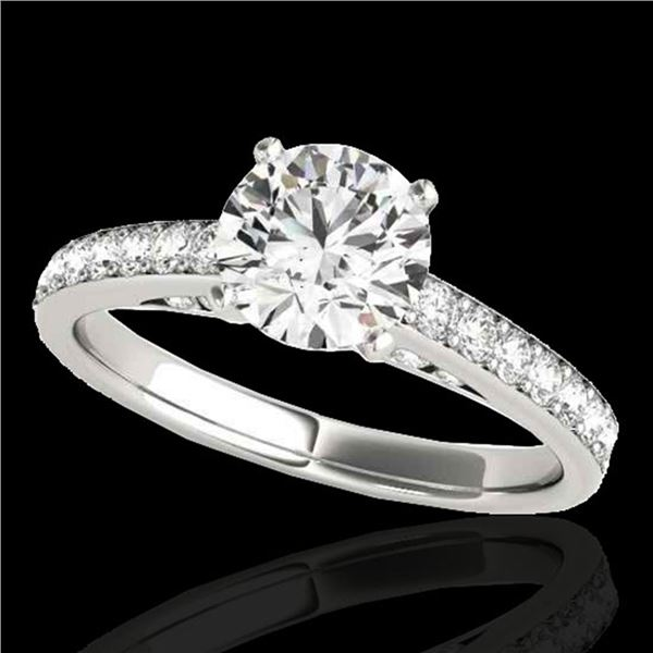 1.5 ctw Certified Diamond Solitaire Ring 10k White Gold - REF-184H3R