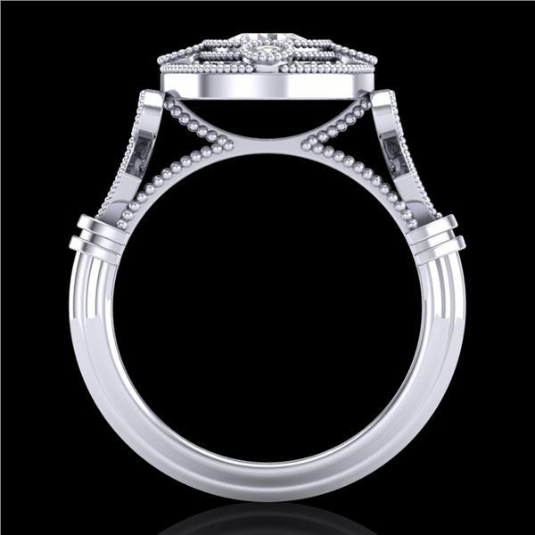 1.12 ctw VS/SI Diamond Art Deco Ring 18k White Gold - REF-250Y2X