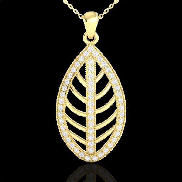 1 ctw Micro Pave VS/SI Diamond Designer Necklace 18k Yellow Gold - REF-100R2K
