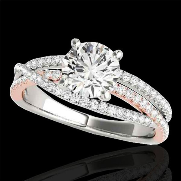 1.4 ctw Certified Diamond Solitaire Ring 10k 2Tone Gold - REF-163M6G
