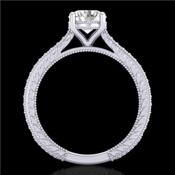 1.45 ctw VS/SI Diamond Art Deco Ring 18k White Gold - REF-400F2M