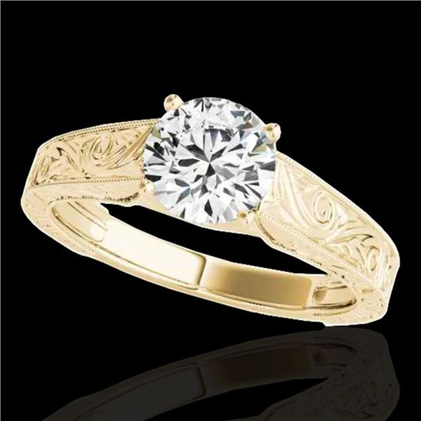 1.5 ctw Certified Diamond Solitaire Antique Ring 10k Yellow Gold - REF-327R3K