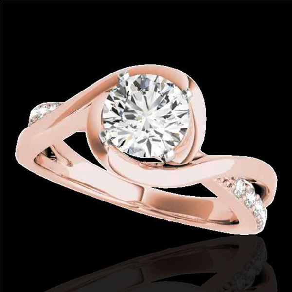 1.15 ctw Certified Diamond Solitaire Ring 10k Rose Gold - REF-190G9W