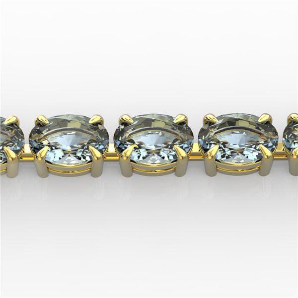 20 ctw Aquamarine Eternity Designer Bracelet 14k Yellow Gold - REF-178A2N