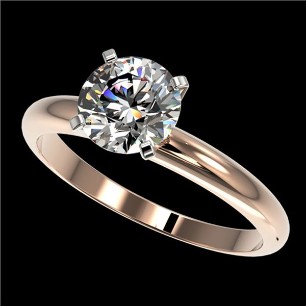 1.55 ctw Certified Quality Diamond Engagment Ring 10k Rose Gold - REF-271F8M