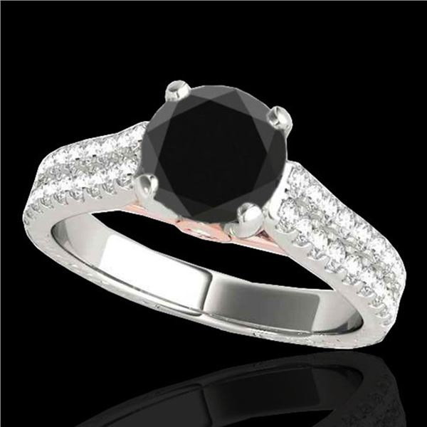2.11 ctw Certified VS Black Diamond Pave Ring 10k 2Tone Gold - REF-66X8A