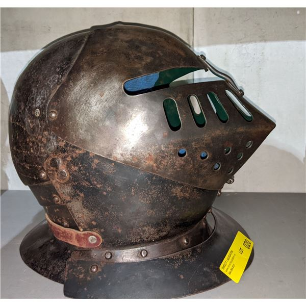 Hand crafted knight helmet from the show