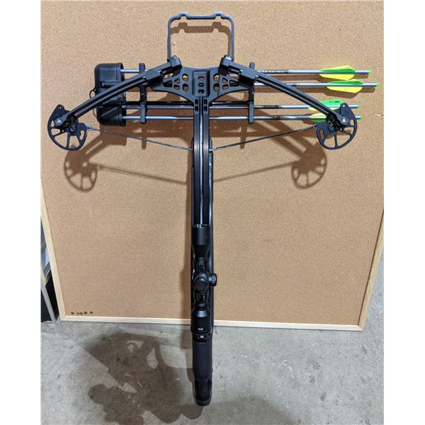 Stryker crossbow w/four arrows and camo carrying case