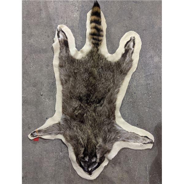 Raccoon fur hide