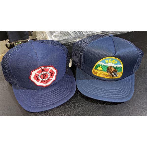 A group of 7 first responders ball cap (mostly RCMP)