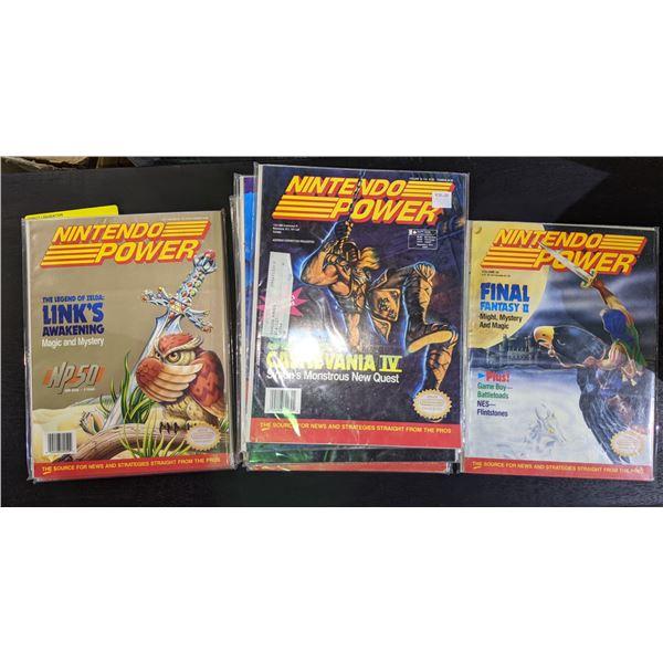 Approx. 34 nintendo power collector's magazine