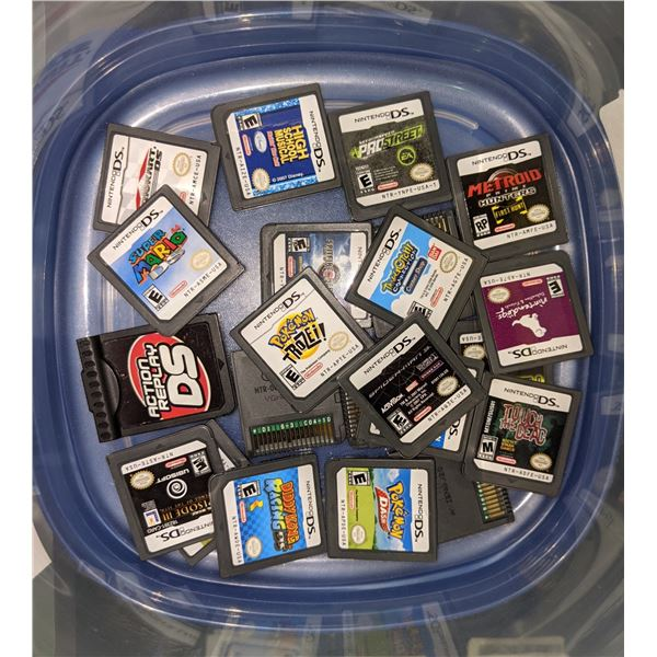 Approx. 22 DS game cartridges