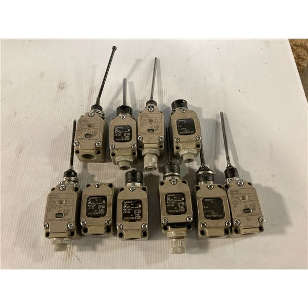 Lot of (10) Omron Switches