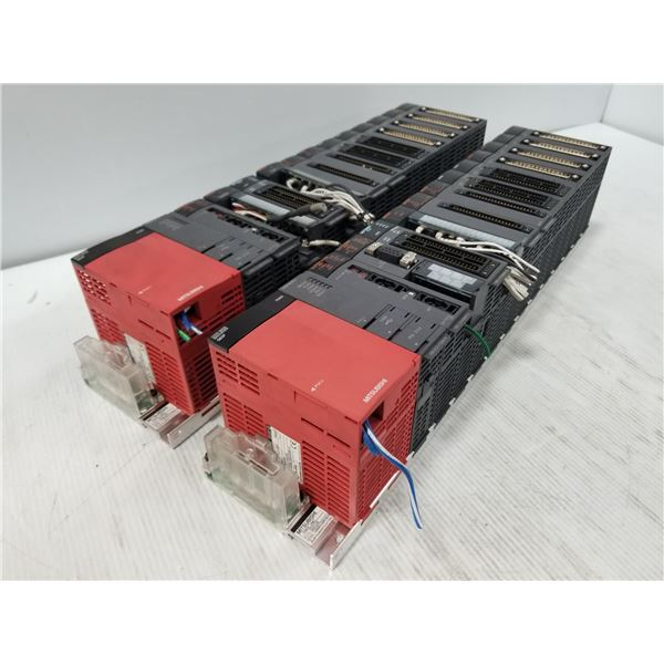 (2) Mitsubishi Racks W/ I/O Modules
