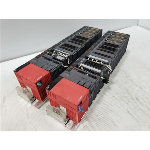 (2) Mitsubishi Racks W/ I/O Modules