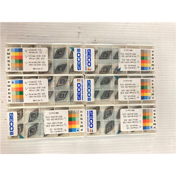 Lot of (58) New? Seco Carbide Inserts, P/N: DNMU 331-MF2