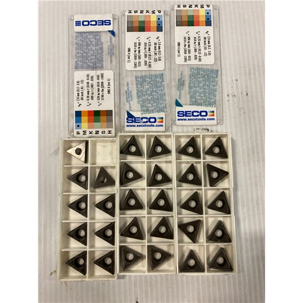 Lot of (29) New? Seco Carbide Inserts, P/N: TCMT 32.52-F2